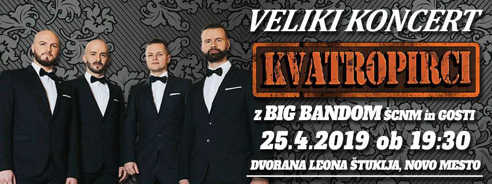 Kvatropirci in Big Band ŠC Nm ta četrtek v Nm